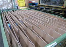 Warenausgang: Detailansicht von verpacktem Material, Verpackungs- und Logistikdienstleister ad laborem gGmbH