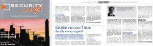 ISO 27001 und IT-Sicherheit - Fokus KRITIS-Betreiber - Fachartikel von Peter-Miller in der SECURITY insight 5/2017