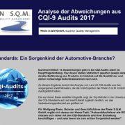 CQI-9 Audits: Die Top-Abweichungen in einer übersichtlichen Infografik