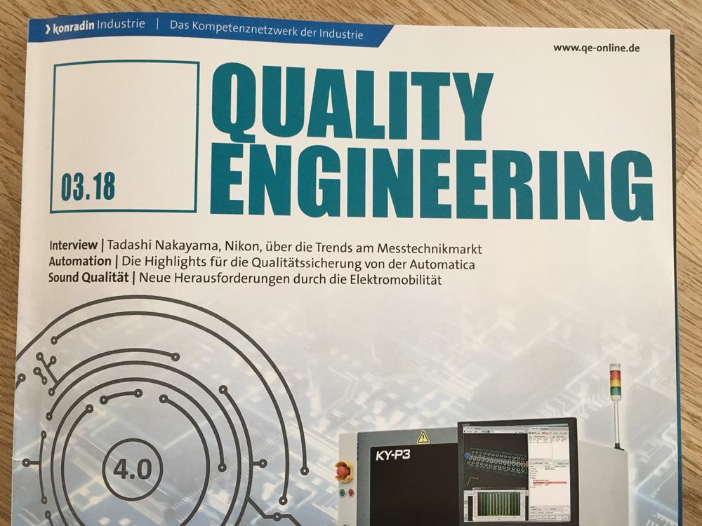 """Cover der Quality Engineering 3/2018: Fachbeitrag zur ISO 50001 / 50003: """"Auch ohne Zertifizierung interessant"""""""